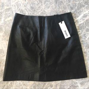 BB Dakota Real Leather Brucie Black Mini Skirt NWT